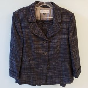 Tahari tweed suit size 16P